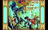 Heroes of the Lance PC-88 Title screen
