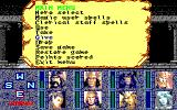 Heroes of the Lance PC-88 Main in-game menu