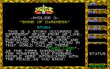 Hydlide II: Shine of Darkness PC-88 Title screen + story