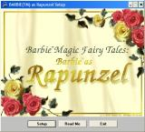 Magic Fairy Tales - Barbie As Rapunzel + Hot Wheels - Custom Car Designer Windows Barbie as Rapunzel's install screen. This game runs under WIN 3.1, WIN 95 or WIN 98