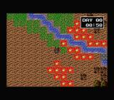 Shiryō Sensen: War of the Dead  MSX The map is pretty maze-like, with all those fires...