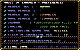 Magic of Endoria Commodore 64 Choose some options and then start the game