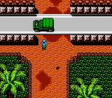 Guerrilla War NES The first boss battle - a car. Soon soldiers will jump out of it