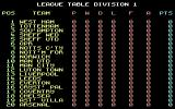 Match of the Day Commodore 64 Have a look at league table division 1