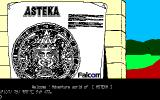 Asteka PC-88 Title screen