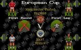 Manchester United Europe DOS Pre game play menu