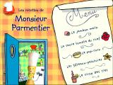 "Les recettes de Monsieur Parmentier Windows This is a ""menu"" screen, no better description"