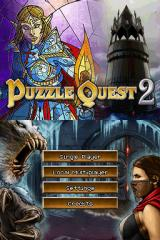 Puzzle Quest 2 Nintendo DS Title screen with main menu.
