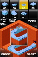 Isoball iPhone A later level, showing conveyor blocks.