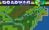 Roadwar 2000 PC-88 Main screen