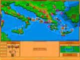 Advanced Civilization DOS The game in advanced stage of play - the map gets crowded pretty fast