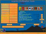 Advanced Civilization DOS With goods and treasury you can buy civilization advancements - the essence of this game (you won't win by sheer numbers)