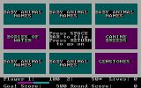 Quink DOS A wrong guess; here are the loners and which category each item is in (CGA)