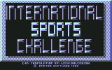 International Sports Challenge Commodore 64 Title
