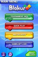 Blokus iPhone Main menu