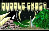 Bubble Ghost Apple IIgs Title screen