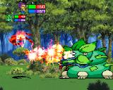 Guardian Heroes SEGA Saturn Fighting a giant plant..thing.