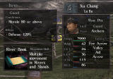 Dynasty Tactics 2 PlayStation 2 Items improve stats and give different skills.