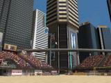 Ultimate Beach Soccer Windows Overview of the place, notice BSWW, Coke or Wanadoo advertisements