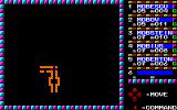 Phantasie PC-88 Dungeons are represented by very small, abstract maps