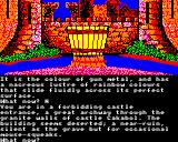 Time and Magik: The Trilogy BBC Micro Red Moon: at a castle entrance