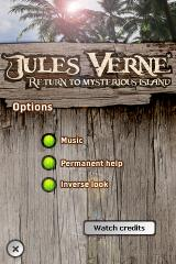 Return to Mysterious Island iPhone Options menu