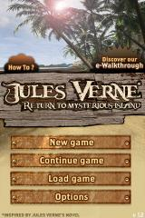 Return to Mysterious Island iPhone Main menu