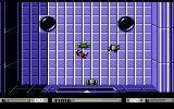 Speedball Commodore 64 Red tries to make a goal