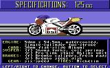 The Cycles: International Grand Prix Racing Commodore 64 Bike selection - 125cc