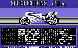 The Cycles: International Grand Prix Racing Commodore 64 Bike selection - 250cc