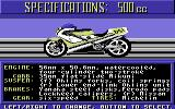 The Cycles: International Grand Prix Racing Commodore 64 Bike selection - 500cc