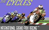 The Cycles: International Grand Prix Racing Commodore 64 Title screen