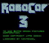 RoboCop 3 SNES Title Screen