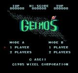 Geimos  NES Title screen