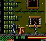 RoboCop 3 Game Gear Baddie about to be hit