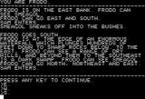 The Shadows of Mordor Apple II Text description
