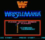 WWF Wrestlemania NES Main Menu