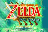 The Legend of Zelda: A Link to the Past/Four Swords Game Boy Advance Four Swords title screen
