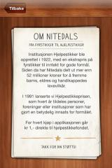 Nitedals Fyrstikker iPhone The about screen
