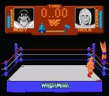 WWF Wrestlemania NES Savage off the top rope