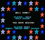 WWF Wrestlemania NES End of match