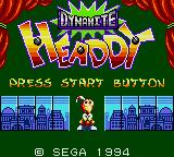 Dynamite Headdy Game Gear Title Screen