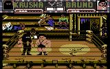 Sgt Slaughter's Mat Wars Commodore 64 Starting the first match