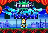 Dynamite Headdy Genesis Title Screen