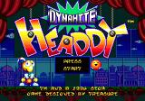 Dynamite Headdy Genesis Main menu