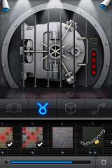 The Heist iPhone The vault with a few completed puzzles.