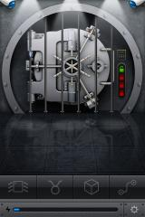 The Heist iPhone One level is completed in the vault as indicated by the light near the door.