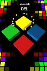 Cubo Browser Small sparkles fly when you press down a cube.