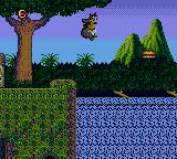 Disney's TaleSpin Game Gear Jumping across river