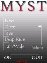 Myst Windows Mobile Main menu - supports Tall & Wide format